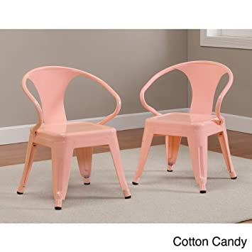 Kids Tabouret Stacking Chairs (Set Of 2) Cotton Candy.