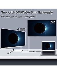 Adaptador USB C a HDMI CLDAY USB tipo C a HDMI multipuerto 3 en 1 con puerto USB 3.0 y puerto USB C de carga rápida compatible con MacBook Sumsang Galaxy S8 S9 Yoga 900 Lumia 950 XL HDMI Hub adaptador