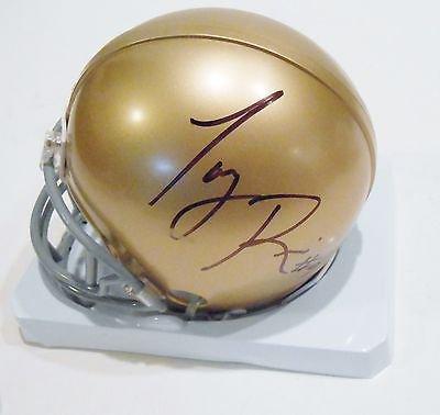 Autographed Chris Zorich University of Notre Dame mini helmet w//COA