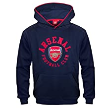 Arsenal FC Official Soccer Gift Boys Fleece Graphic Hoody Blue 12-13 Years