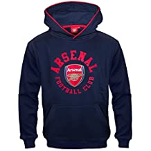 Arsenal FC Official Soccer Gift Boys Fleece Graphic Hoody Blue