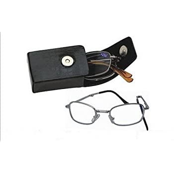 Deluxe Folding Reading Glasses - Pocket Readers - Includes Black Hard Snap Case with Clip (1.00, Folding Black Case)