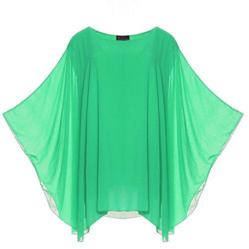 Top Aqua in lunghe pipistrello donna a oversize maniche da a chiffon vWOUqv8r7