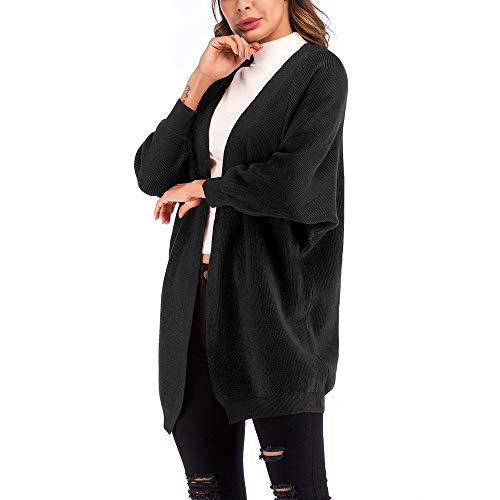 Ashop Abrigo De Casual Mujer Capa Chaquetas Tops Suelto Ropa Punto Mujer Otoño Negro wtrYtq
