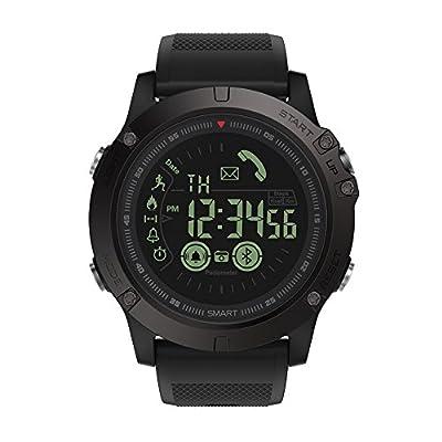 Maeffort Smart Watch, Outdoor Fitness Sport Smart Wrist Watch Bluetooth Waterproof IP67 Pedometer Calorie Counter for Android Samsung IOS Iphone X 7 Plus Smartphones Men Boys Kids Gifts