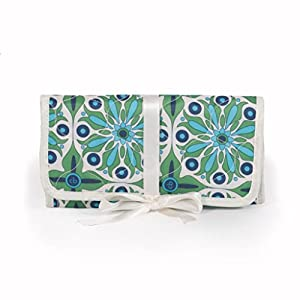 cinda b Jewelry Roll, Verde Bonita, One Size