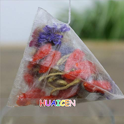1000pcs/lot Corn Fiber Tea bags PLA Biodegraded Tea Filters Quadrangle Pyramid Heat Sealing Filter Bags Customized logo by TXT (Image #1)