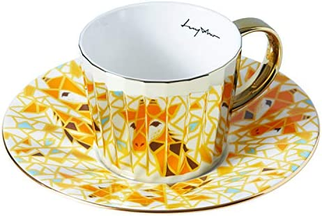 Color : Gold Ceramic Cup Coffee Mugs Mirror Reflection Coffee Mug Luycho Mirror Coffee Cup Specular Reflection Bird Ceramic Cups and Saucers Sebd Scoop European Style Coffeeware,Gold,China