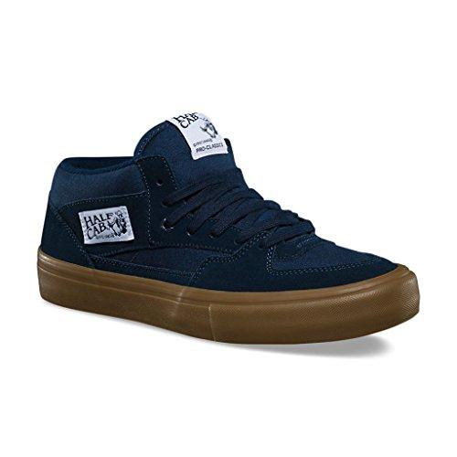 Vans Half Cab Pro Mens Size 7 Navy Blue Gum Skateboarding Shoes (Cab Half Vans)
