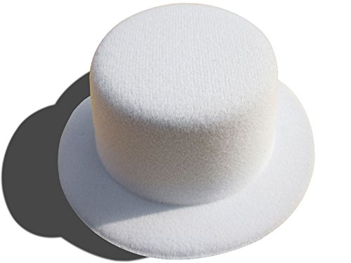 White Mini Top Hat (Solid Color Mini Top Hat Craft Fascinator Cosplay Alligator Clips Millinery (White))