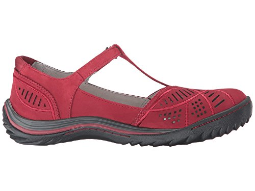 Image of Jambu Women's Bridget Flat, Red, 8.5 M US
