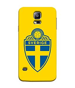 ColorKing Football Sweden 06 Yellow shell case cover for Samsung S5