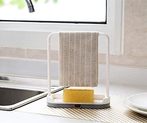 Feel Soon Retail Dishcloth Holder Sponge Holder Stand Rack (Grey)
