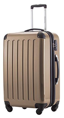 HAUPTSTADTKOFFER® 42 Liter Handgepäck · Boardcase · (55 x 35 x 20 cm) · Hochglanz · TSA Schloss · CHAMPAGNER