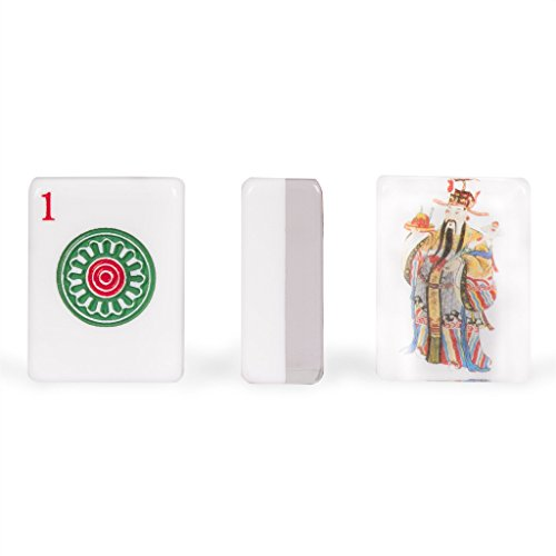 Gods Tile Will (Yellow Mountain Imports Set of 166 American Mahjong (Mah Jong, Mahjongg, Mah-Jongg, Mah Jongg) Tiles, God of Fortune)