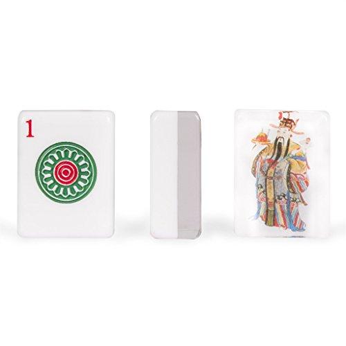 Bamboo Mah Jongg (Yellow Mountain Imports Set of 166 American Mahjong (Mah Jong, Mahjongg, Mah-Jongg, Mah Jongg) Tiles, God of Fortune)