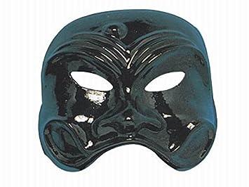 Maschera di Pulcinella classica in plastica nera