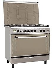 Fresh Plaza 60x90 Cast Gas Cooker -safty- Digital-silver