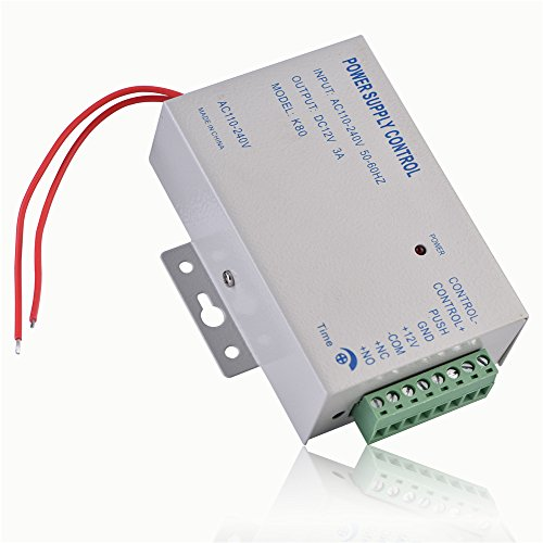 930829685220e Fosa Electric Door Lock Power Supply, Input AC110V-240V Output DC 12V 3A  30WDoor Access Control Controller System for Video Door Phone Intercom Lock