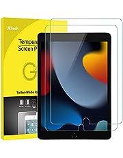 JETech Folia Ochraniacz Ekranu Kompatybilne z iPad 9/8/7 (10,2 Cala, 2021/2020/2019, 9/8/7 Generacji), iPad Air 3 (10,5 Cala, 2019)/iPad Pro 10.5 (2017), Szkła Hartowanego, Opakowanie 2