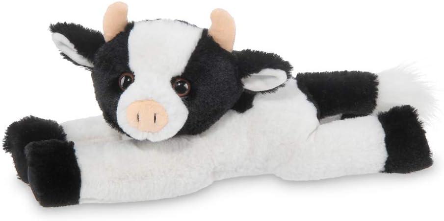 Bearington Jesse Plush Cow Stuffed Animal, 12 Inches