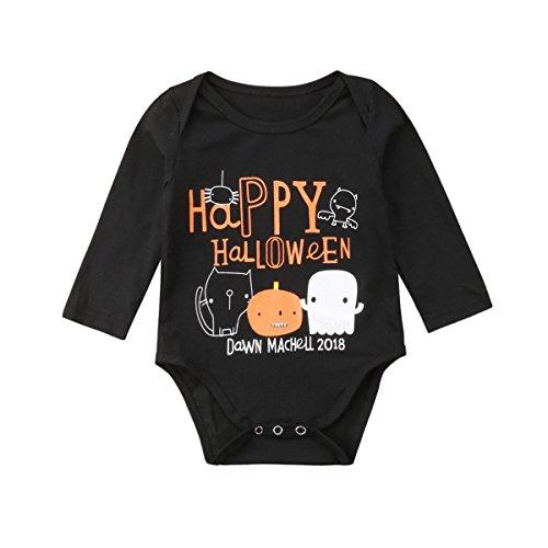 Asisol Baby Boys/Girls Happy Halloween One-Piece Bodysuit Romper