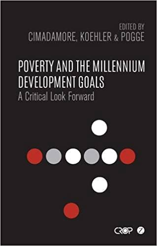 Book Poverty and the Millennium Development Goals: A Critical Look Forward (CROP Series)