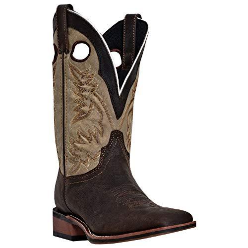 (Laredo Men's Collared Western Boot,Dark Brown/Tan,11 D US)