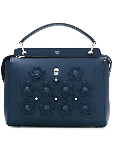 Fendi Handbag Blue (Fendi Women's 8Bn293sr7f0kr1-Mcf Blue Leather Shoulder Bag)