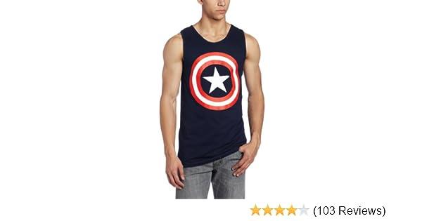 DC Comics Mens Captin America Tank Top Navy