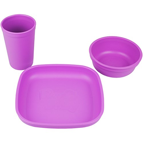 Re-Play Made in the USA Plate, Drinking Cup, - Dishware Sets Purple