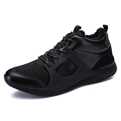 Men's Shoes Feifei Winter Keep Warm Fashion Wear-Resistant Sports Shoes 4 Colors (Color : 01, Size : EU39/UK6.5/CN40)