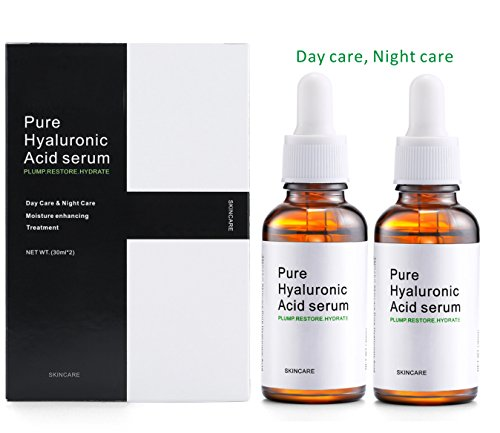 Endim Hyaluronic Acid Serum for Skin- 100% Pure, Anti-Aging Serum- Intense Hydration + Moisture, Non-greasy, Paraben-free-Best Hyaluronic Acid for Your Face - 2 Bottles