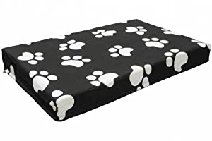 B00IM0WQRUNN8 Go Pet Club QQ-34 Memory Foam Orthopedic Dog Pet Bed, 34 by 22 by 3-Inch, Black