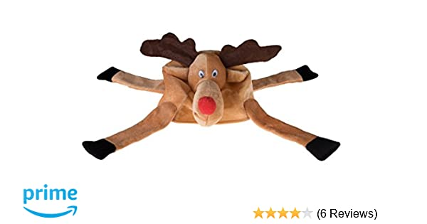 d9b14e3c37f Amazon.com  Clever Creations Christmas Reindeer Hat One Size Fits Most  Christmas Hat for Both Kids and Adults  Clothing