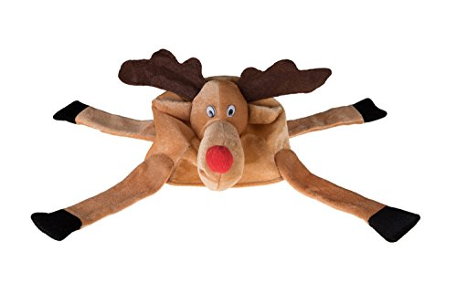 Clever Creations Christmas Reindeer Hat One Size Fits Most Christmas Hat for Both Kids and Adults -