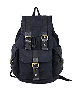Gootium 21101GRY-S Specially High Density Thick Canvas Backpack Rucksack, Black Small Size