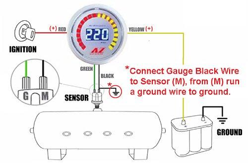 amazon com air zenith 220 psi digital air gauge automotive  air pressure gauge wiring diagram #9