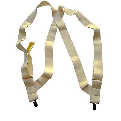 HoldUp Brand Under-Up Series Light Tan Suspenders with Patented No-Slip Needle Point Clips by Hold-Up Suspender Co.