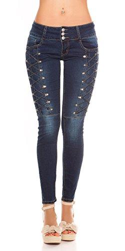 KouCla KouCla Jeans Femme Bleu Fonc Jeans Femme wxZgxqpH0