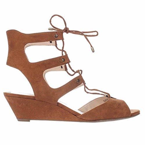 Inc International Concepts Féminines Mandie Ouvert Bout Ouvert Sandales Compensées, Marron, Taille 10