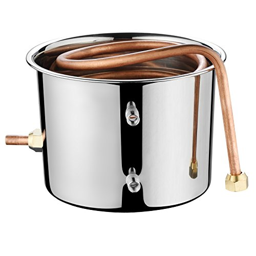 SUNCOO Water Wine Distiller Alcohol Moonshine Still Spirits Boiler Wine Making Equipment Kit for Home Brewing,Stainless Copper (2 Gal/8 Liter) by SUNCOO (Image #6)