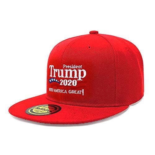 - ChoKoLids Trump 2020 Keep America Great Campaign Embroidered USA Hat | Baseball Bucket Trucker Cap (Snapback Red)