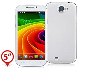 """DK 5.0"""" Capacitive Touch Screen 960x540 Android 4.2 MTK6582M Quad-core 1.3GHz 512MB RAM & 4GB ROM 3G Phablet Smartphone with Bluetooth, WiFi & GPS (White)"""