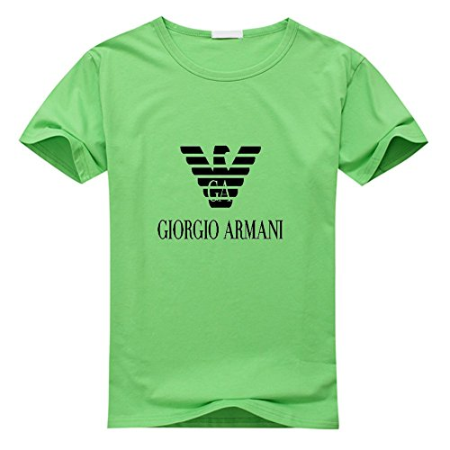 Emporio Armani Logo Men's Classic Short Sleeve Cotton T-Shirt Large Green (Armani Jeans Short Sleeve T-shirt)