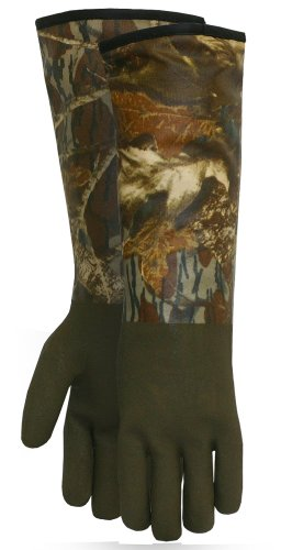 Camouflage Thinsulate Hunting Gloves (Mossy Oak Extreme Cold Weather PVC Coated with Thinsulate Lined Decoy Hunting Gloves, 330, Size: One Size Fits Most)
