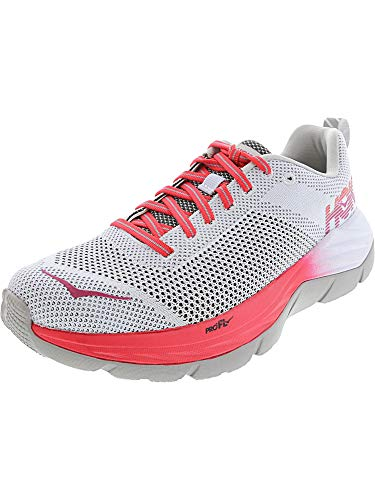 Hoka One Women's Mach White/Hibiscus Low Top Mesh Running Shoe - 9.5M