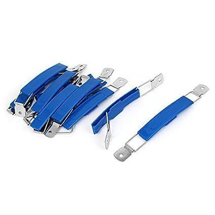 Inicio eDealMax gabinete Dresser almacenamiento caja de plástico azul de la manija del tirón 10pcs