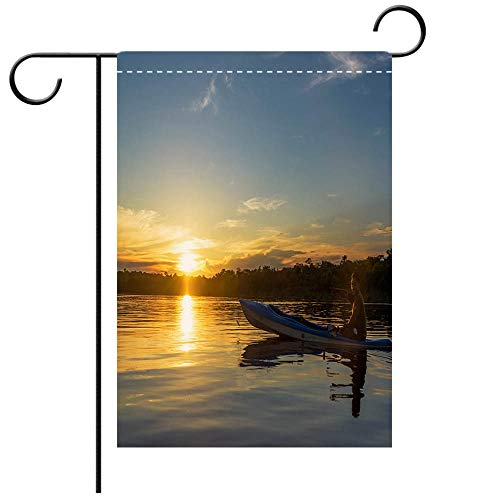 Illinois Lawn Guide - BEICICI Garden Flag Double Sided Decorative Flags Amazon Sunset and Tour Guide Decorative Deck, Patio, Porch, Balcony Backyard, Garden or Lawn