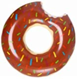 "Mega Giant Donut pool float 48"" / 120cm / 4 feet (Chocolate)"